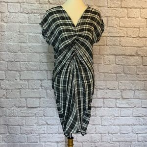 For Cynthia black/gray plaid dress size M
